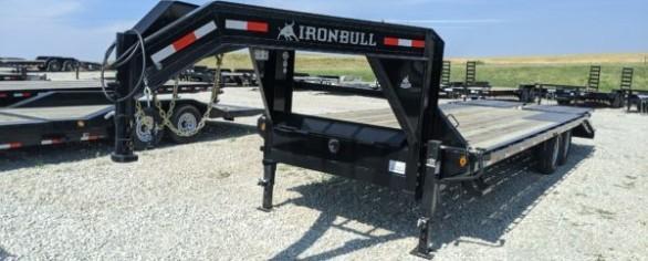 "Iron Bull 102"" x 25' Low-Pro Gooseneck Deckover Trailer"
