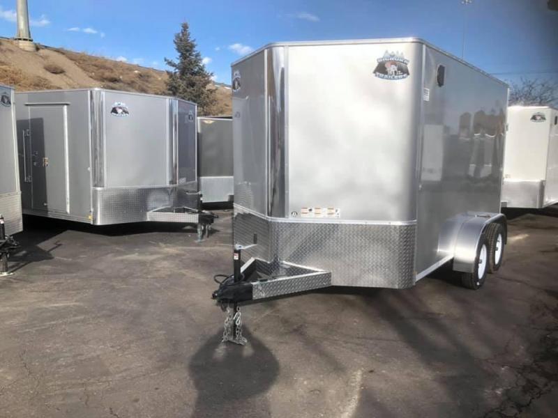 2020 R&M 7X12 v-nose (TAS) Enclosed Cargo Trailer-Wheat Ridge