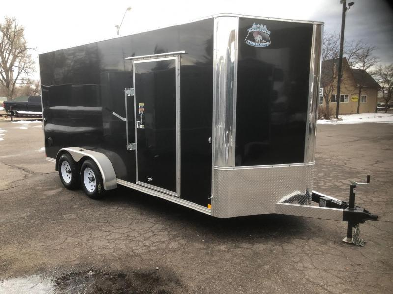 "2020 R&M 7x16 v-nose (84"" tall) Enclosed Cargo Trailer-Wheat Ridge"