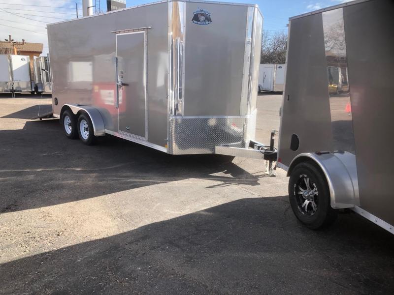 "2020 R&M 7x16 v-nose (84"") Enclosed Cargo Trailer-Wheat RIdge"