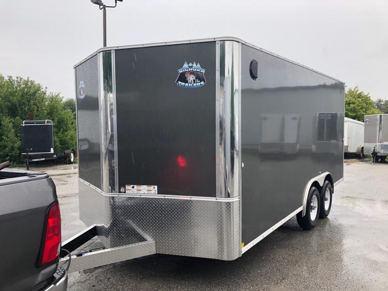 8.5x16 Big Horn R&M 10K Charcoal Cargo Trailer