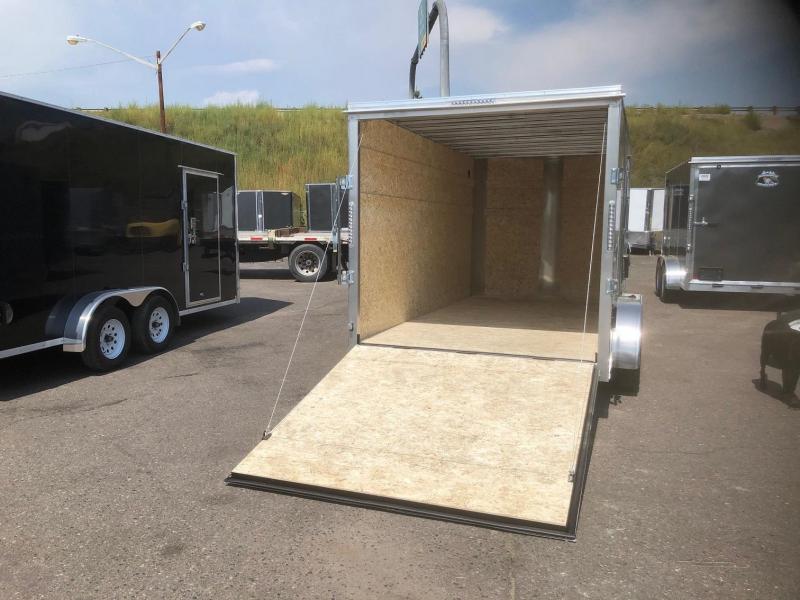 2020 R&M 2-tone 7x14 v-nose (TAC) Enclosed Cargo Trailer-Wheat Ridge
