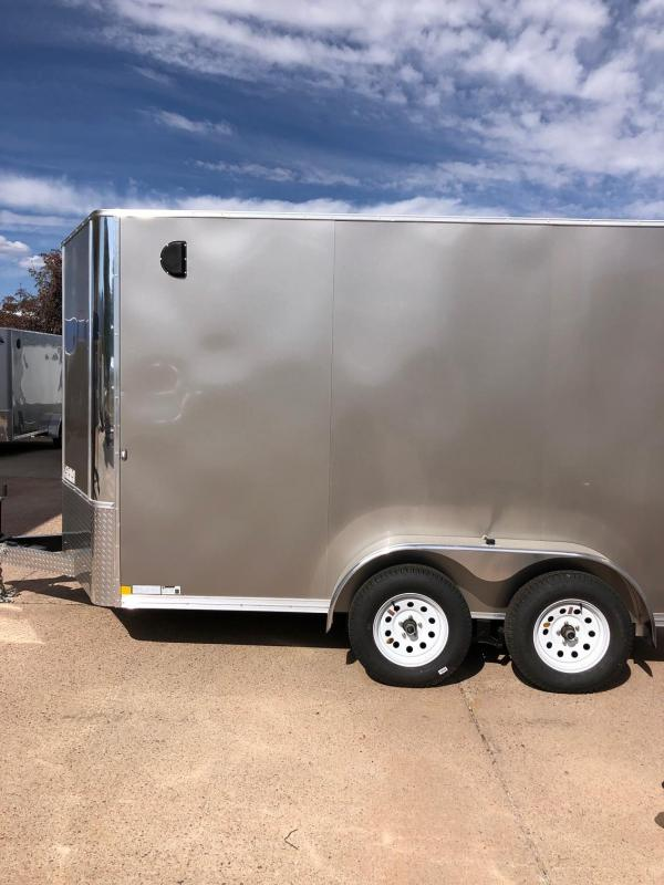 2020 R&M 7x12 v-nose (7' tall, TAC) Enclosed Cargo Trailer-CO Springs