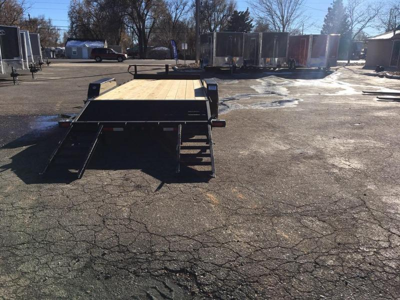 2019 Big Tex Trailers 14ET-20 W/KNEE RAMPS Equipment Trailer-WHEAT RIDGE