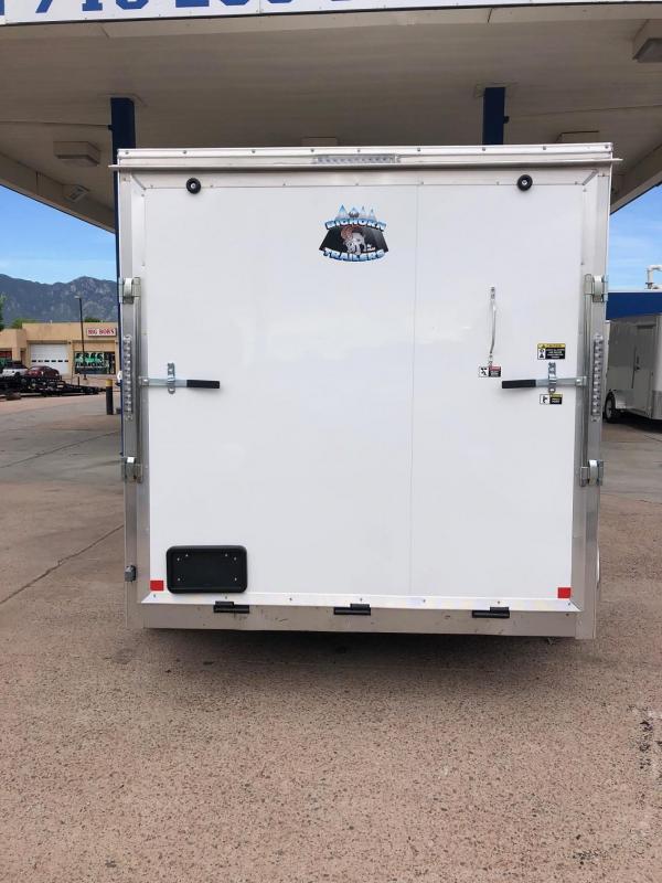 2020 R&M 7X12 V-NOSE Enclosed Cargo Trailer-CO SPRINGS