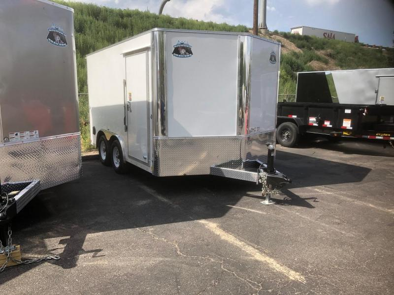 2020 R&M 8.5x12 v-nose (TAC) Enclosed Cargo Trailer-Wheat Ridge