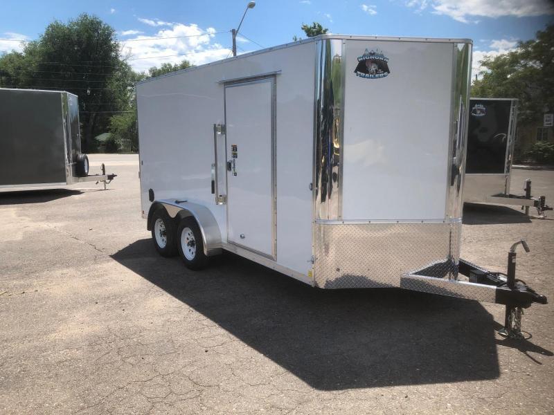 2020 R&M 7x14 v-nose TAC Enclosed Cargo Trailer-Wheat Ridge