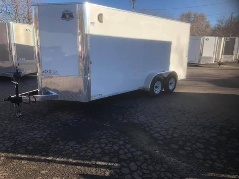 2020 R&M 7x16 v-nose (TAC) Enclosed Cargo Trailer-Wheat Ridge