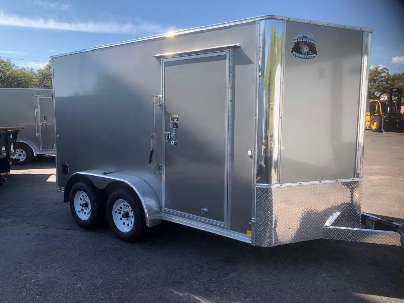 2020 R&M 7x12 v-nose (TAC) Enclosed Cargo Trailer-Wheat Ridge
