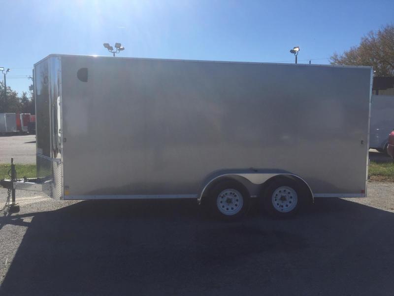 7x16 R&M Big Horn Pewter Cargo V Nose 2020