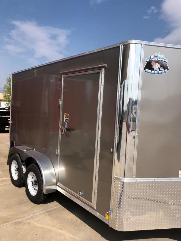 2020 R&M 7x12 v-nose (TAC) Enclosed Cargo Trailer-CO Springs
