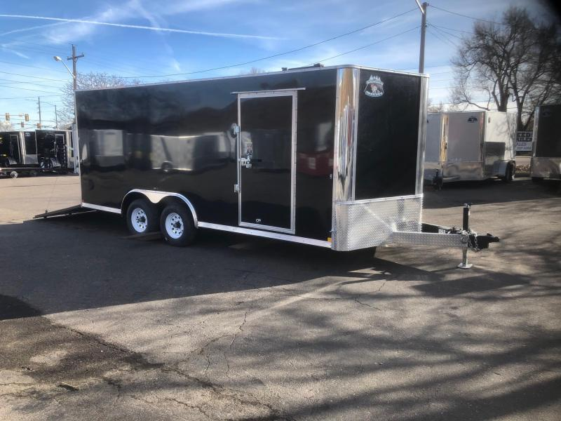 2020 R&M 8.5x18 v-nose (TAC) Enclosed Cargo Trailer-Wheat Ridge