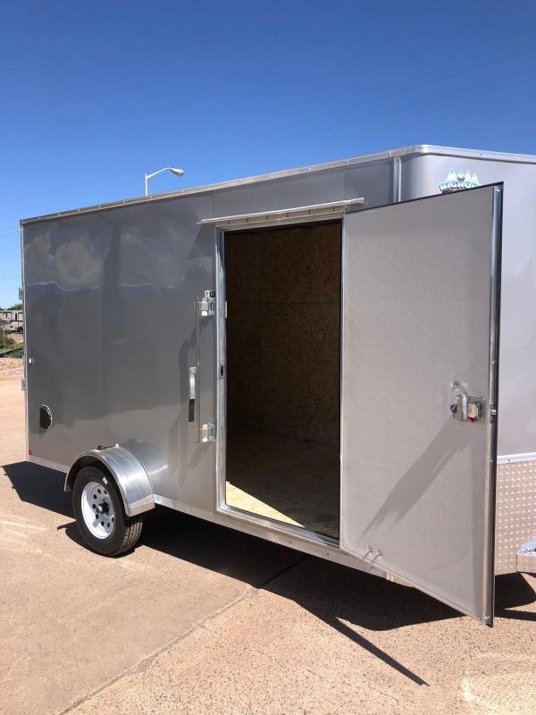 2020 R&M 6x12 v-nose (Silver) Enclosed Cargo Trailer-Silver