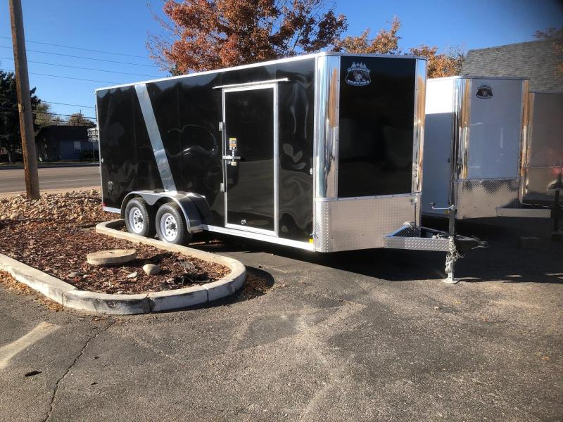 2020 R&M Manufacturing 7x16 v-nose (10k TAC) Enclosed Cargo Trailer-Wheat Ridge