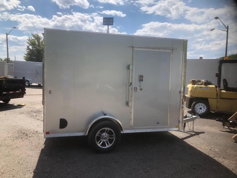2020 R&M 6x10 Galvanized (SAC) Enclosed Cargo Trailer-Wheat Ridge