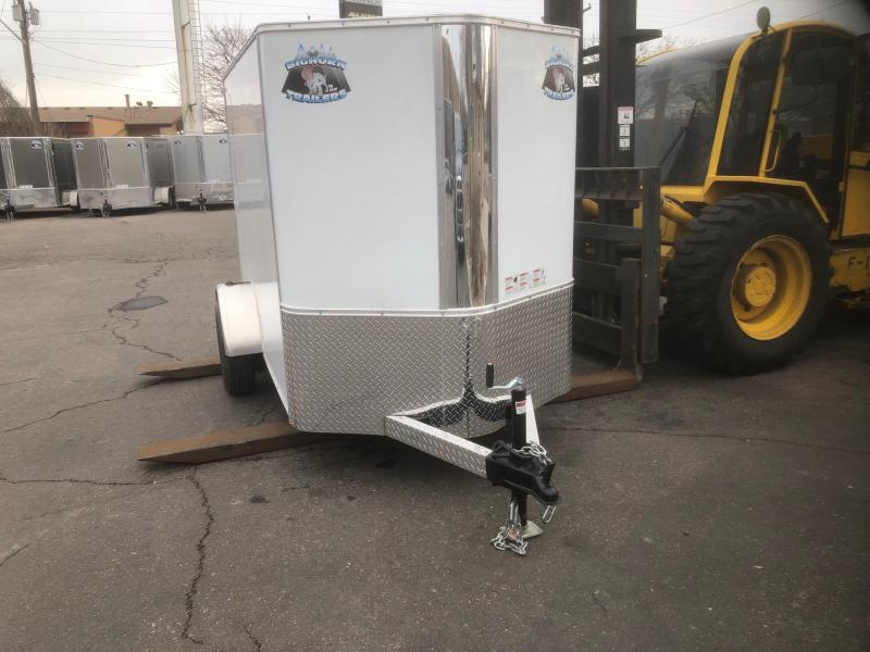 2020 R&M 5x8 v-nose Enclosed Cargo Trailer-Wheat Ridge