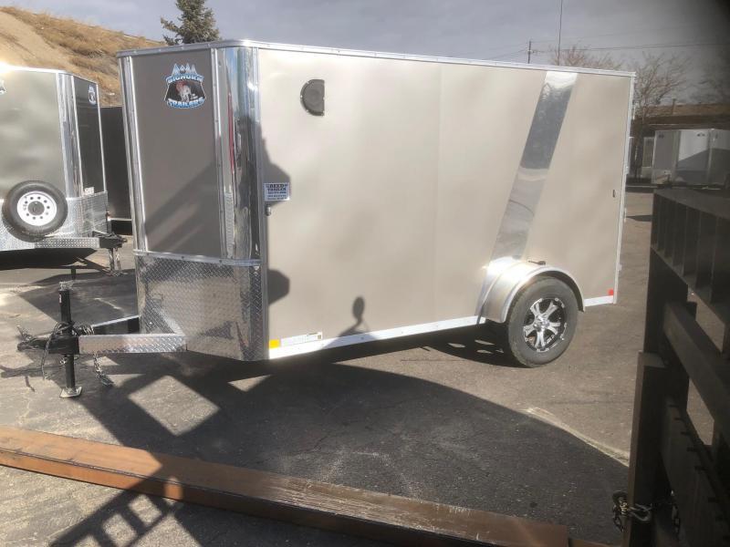 2020 R&M 5x10 v-nose (TAC) Enclosed Cargo Trailer-Wheat Ridge