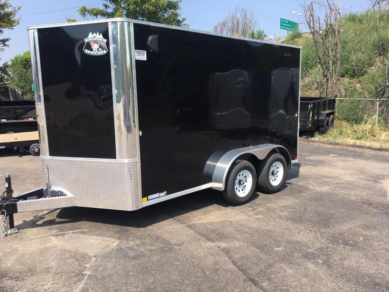 2020 R&M 7x12+v-nose (TAC) Enclosed Cargo Trailer-WHEAT RIDGE