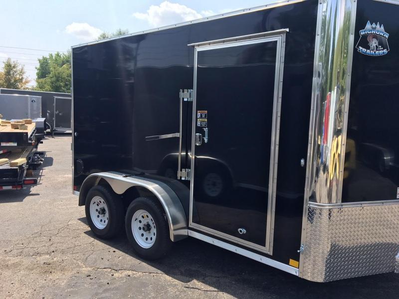 2020 R&M 7x12+v-nose (TAC) Enclosed Cargo Trailer-WHEAT RIDGE