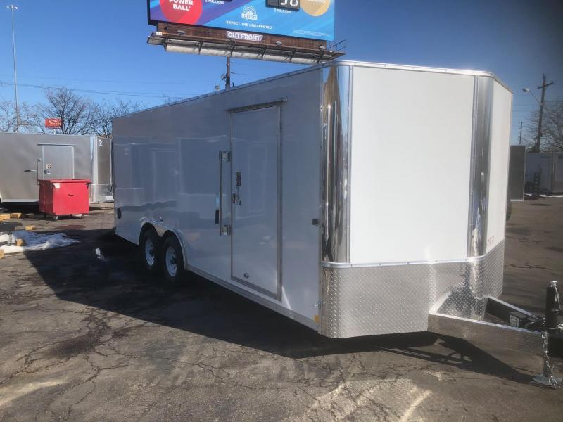 2020 R&M 8.5x20 v-nose Car / Racing Trailer-Wheat Ridge