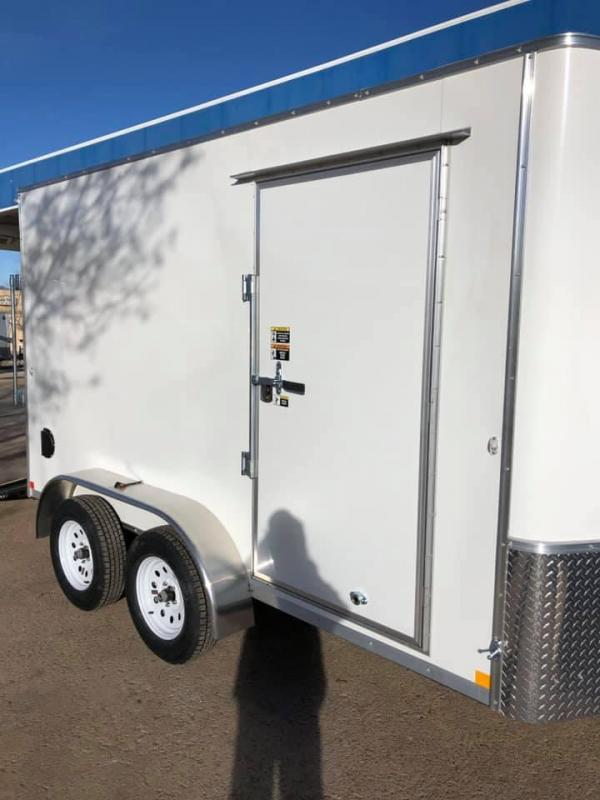 2020 R&M 7x12 v-nose (TAS) Enclosed Cargo Trailer-CO Springs