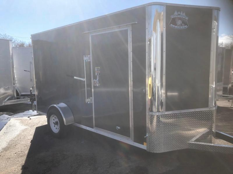 2020 R&M 6x12 v-nose (Single Axle) Enclosed Cargo Trailer-Wheat Ridge