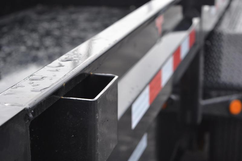 7x16 PJ Trailers | Low Pro Black w/ 7K Dexter Axle Dump Trailer