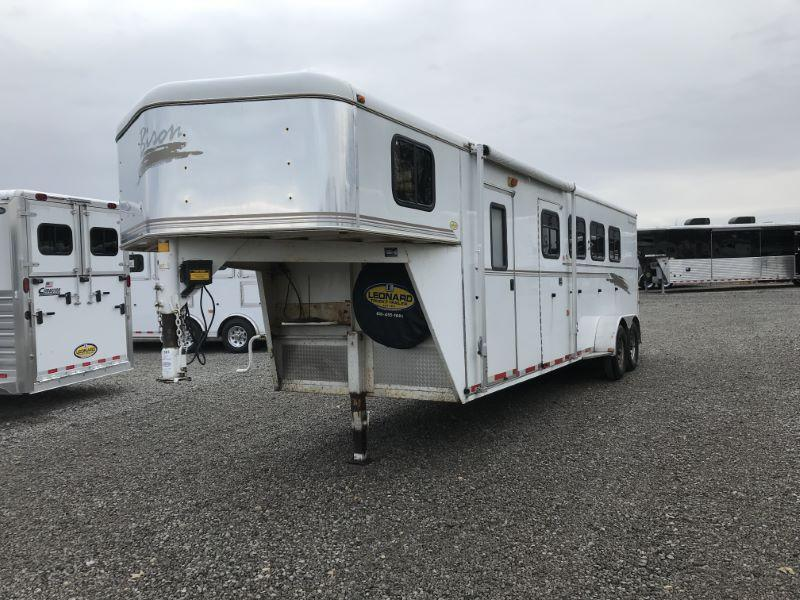 2001 4 HORSE BISON COACH GOOSENECK W/DRESS HORSE TRAILER