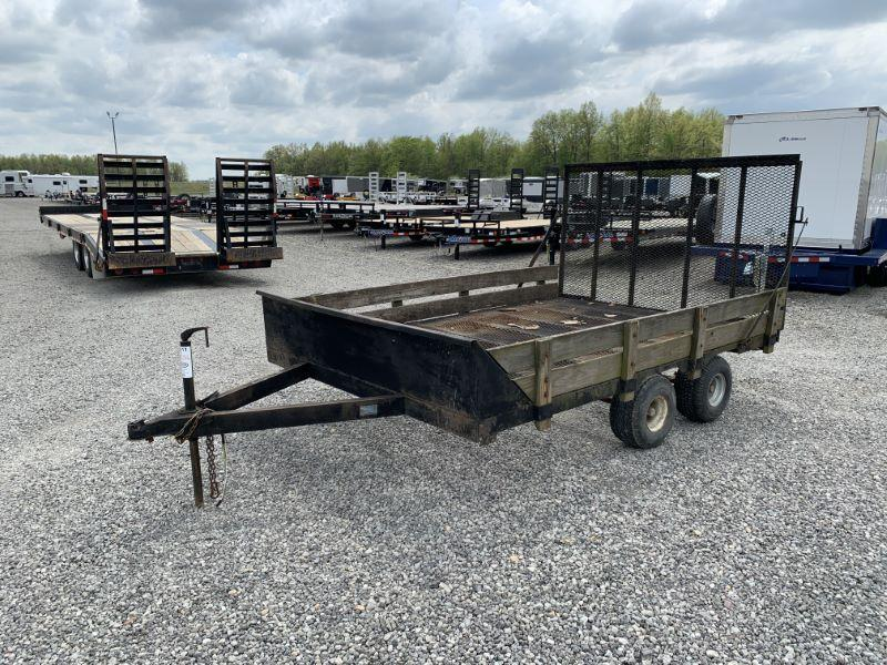 1988 14' PENNSTYLE BUMPER PULL UTILITY TRAILER
