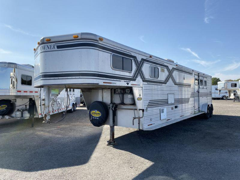 1990 3 HORSE SUNDOWNER LIVING QUARTERS HORSE TRAILER