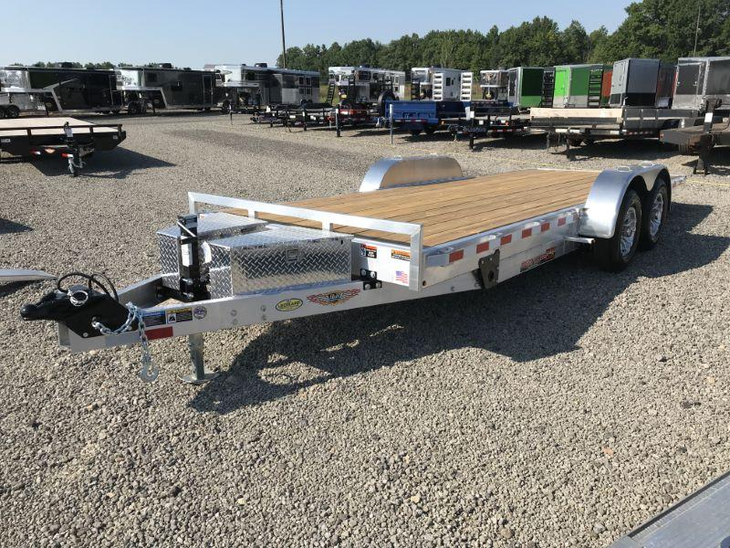 "2019 82"" x 18' H&H BUMPER PULL OPEN CAR TRAILER"
