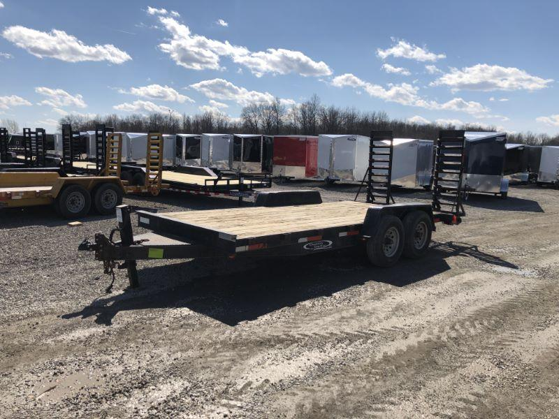 2009 7X18 QUALITY BUMPER PULL EQUIPMENT TRAILER