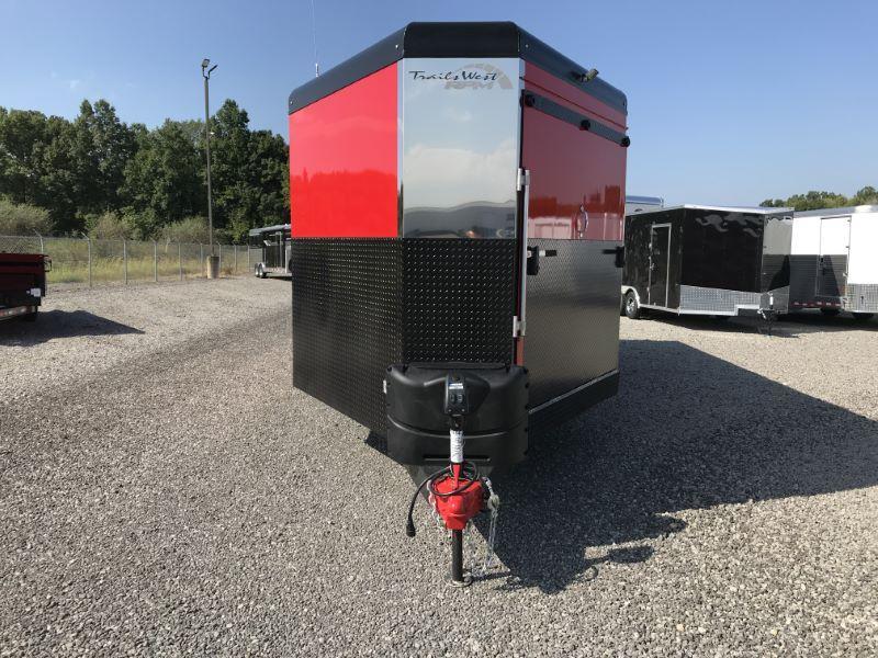 2020 8.5X28 TRAILS WEST BUMPER PULL ENCLOSED ATV/SNOWMOBILE TRAILER