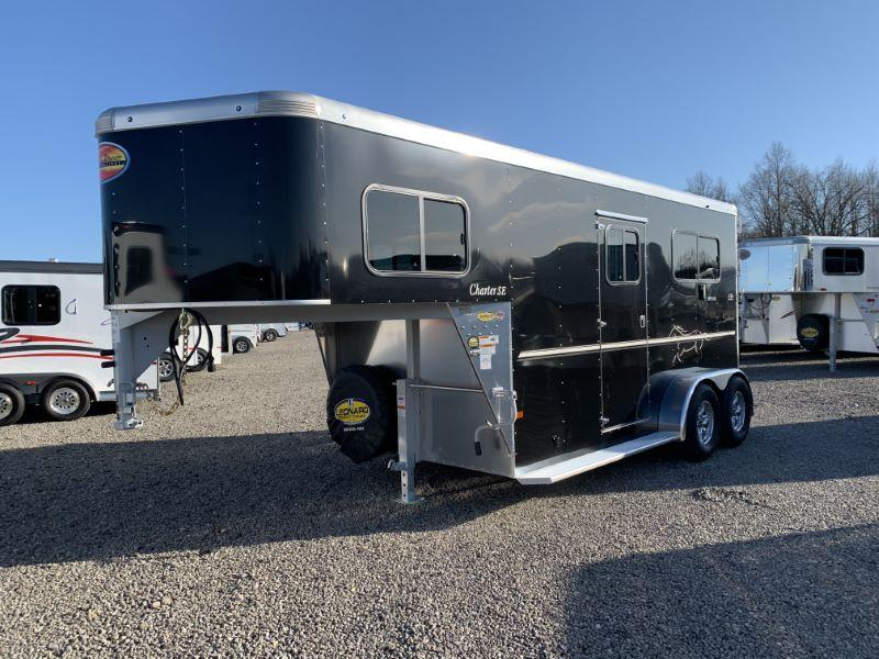 2021 2 HORSE SUNDOWNER GOOSENECK W/DRESS  HORSE TRAILER