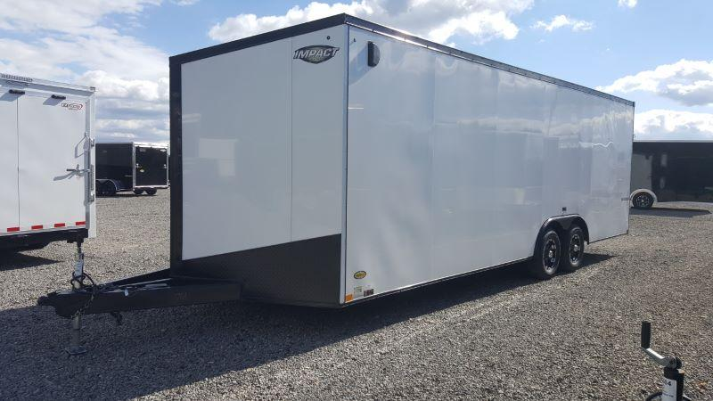2019 8.5X24 IMPACT BUMPER PULL ENCLOSED CAR TRAILER
