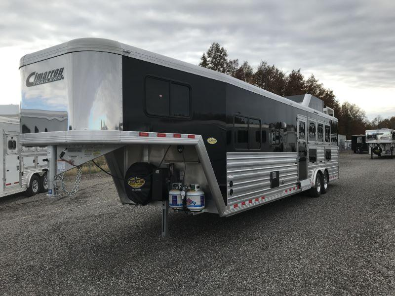 2020 4 HORSE CIMARRON GOOSENECK LIVING QUARTERS HORSE TRAILER