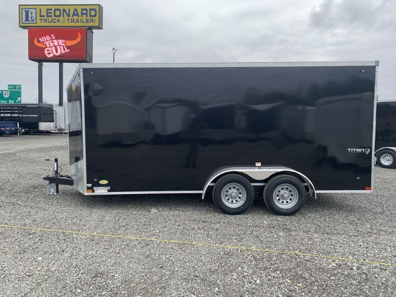 2020 7X16 STEALTH BUMPER PULL ENCLOSED CARGO TRAILER
