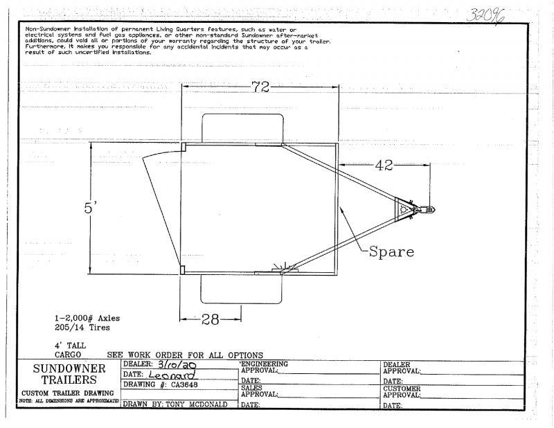 2020 5 X 6 SUNDOWNER BUMPER PULL MINI CARGO TRAILER