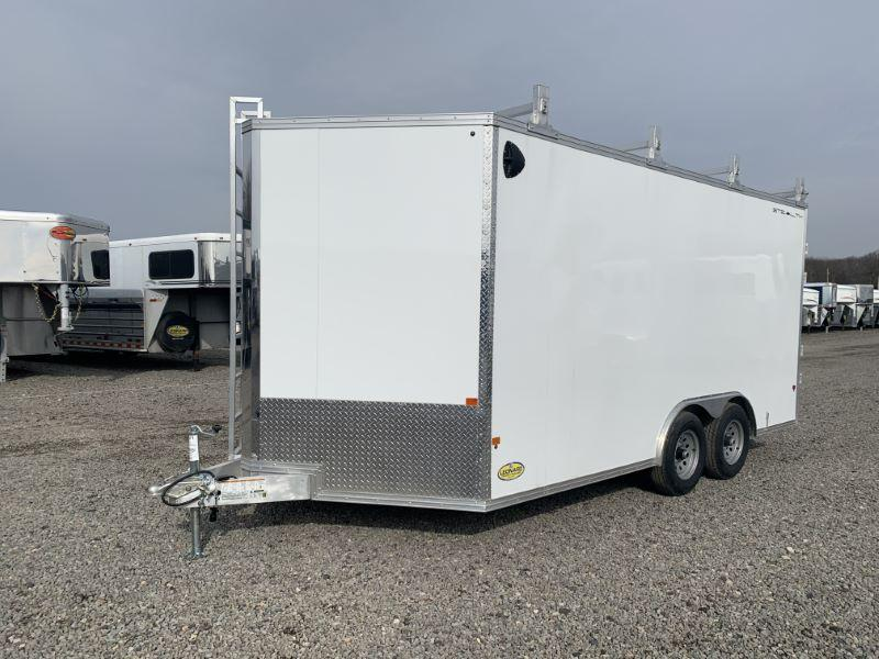 2020 8X16 ALCOM BUMPER PULL ENCLOSED CARGO TRAILER