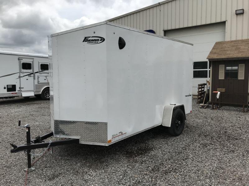 2021 12'  FORMULA BUMPER PULL ENCLOSED CARGO TRAILER