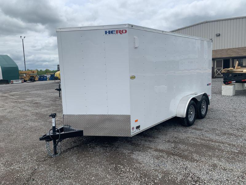 2020 7 x 14 BRAVO BUMPER PULL ENCLOSED CARGO TRAILER