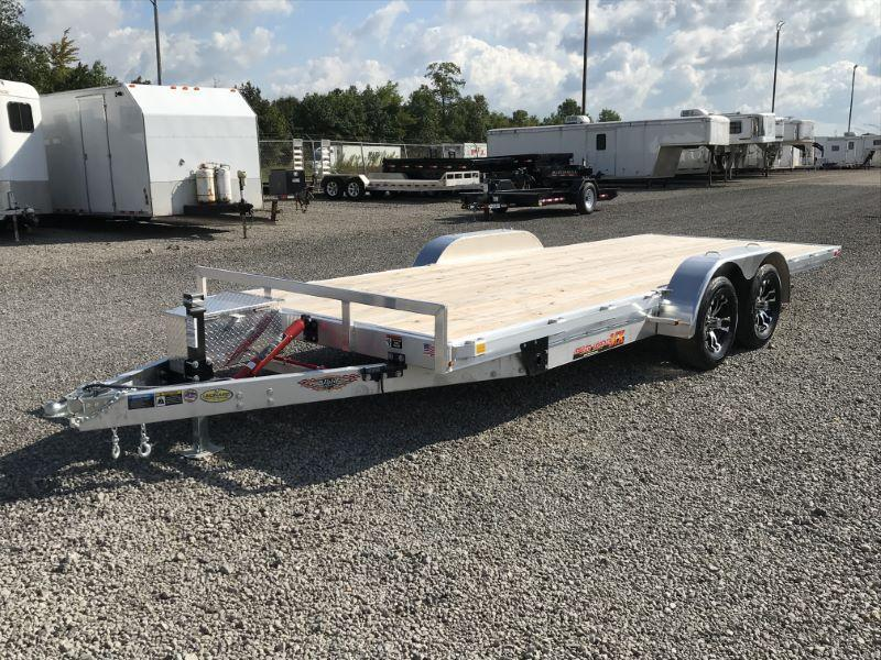 2019 7X20 H&H BUMPER PULL OPEN CAR TRAILER