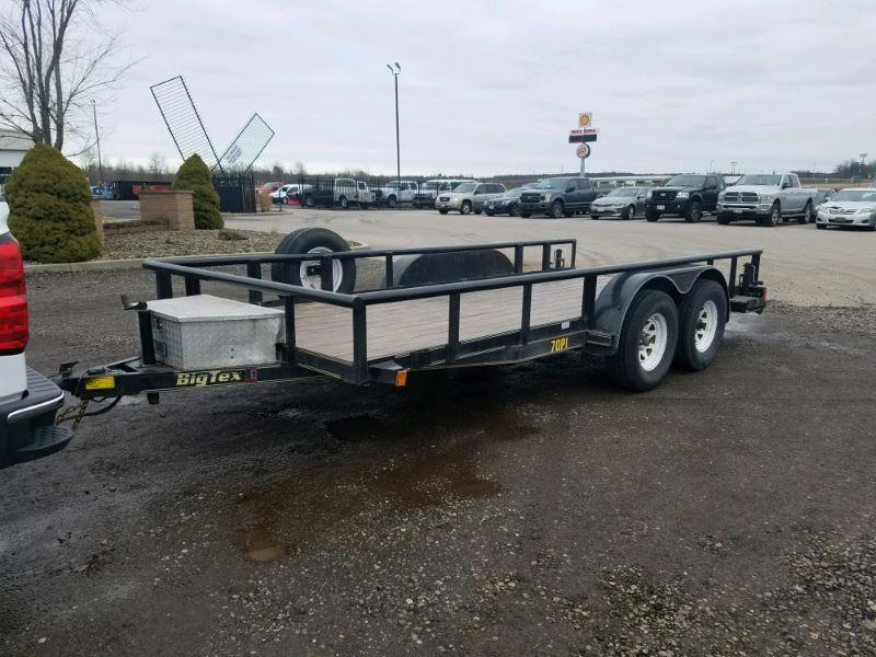 2007 7 X 18 BIG TEX BUMPER PULL UTILITY TRAILER