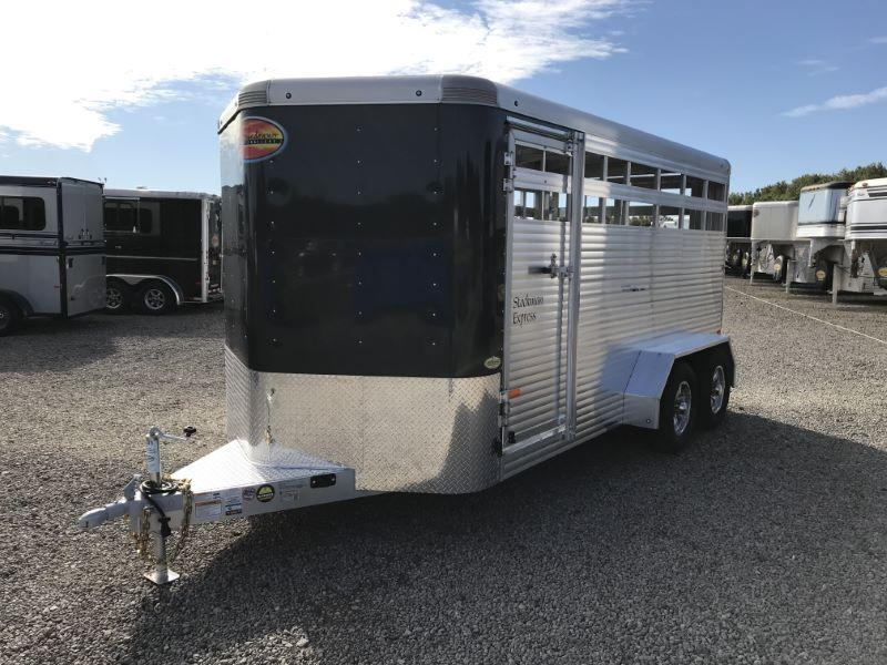 2020 7X16 SUNDOWNER BUMPER PULL STOCK TRAILER