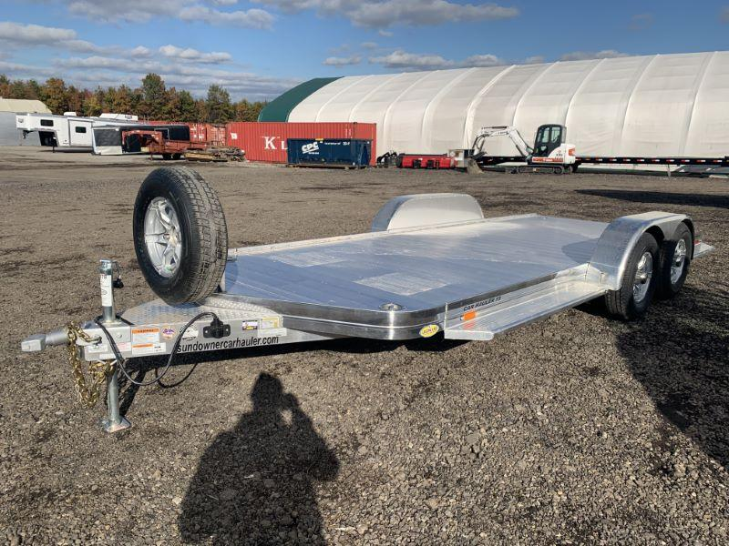 2020 7X19 SUNDOWNER BUMPER PULL OPEN CAR TRAILER