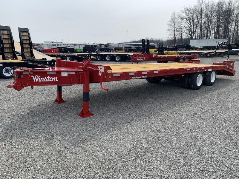 2020 8.5 X 22 WINSTON 15 TON EQUIPMENT TRAILER