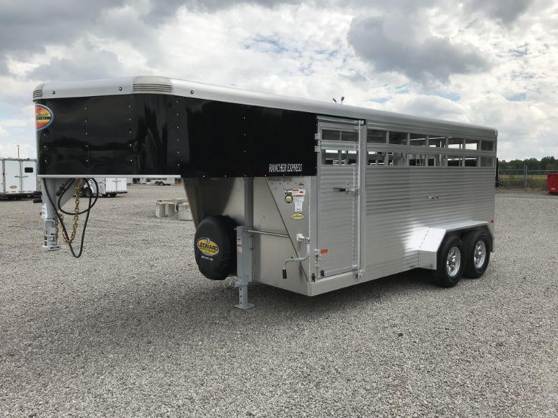 2020 7X16 SUNDOWNER GOOSENECK STOCK TRAILER