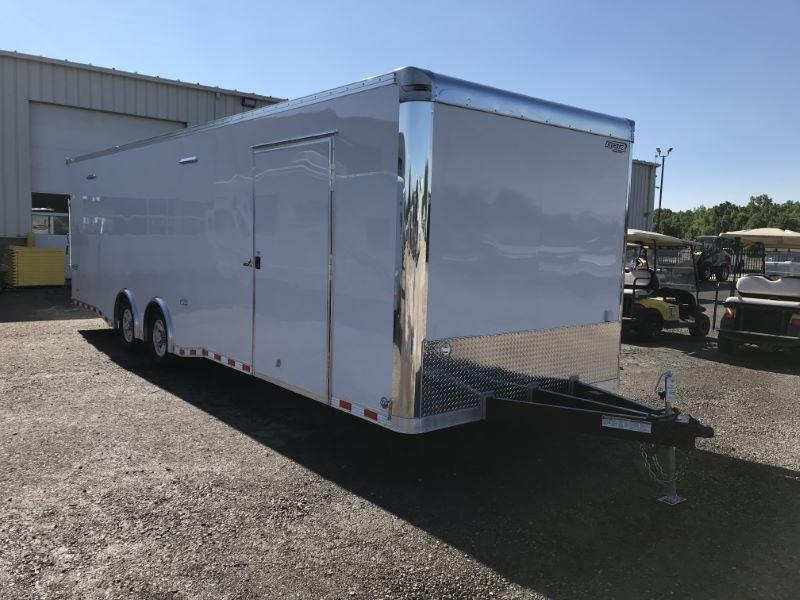 2020 8.5X28 BRAVO BUMPER PULL ENCLOSED CAR TRAILER