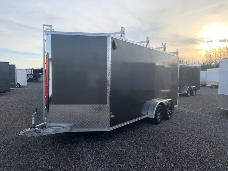 2020 7 X 16 ALCOM STEALTH BUMPER PULL CONTRACTORS SPECIAL ENCLOSED TRAILER