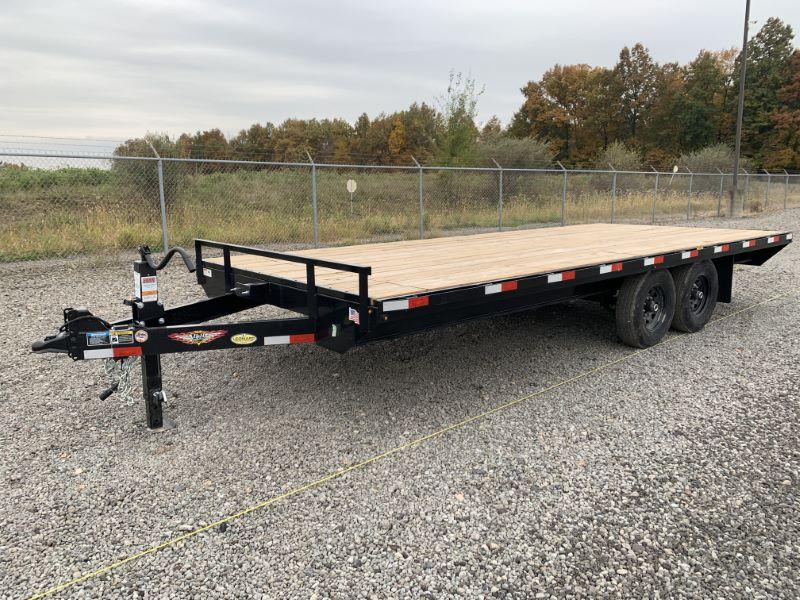 2020 8.5 X 14 H&H DECK OVER FLATBED TRAILER